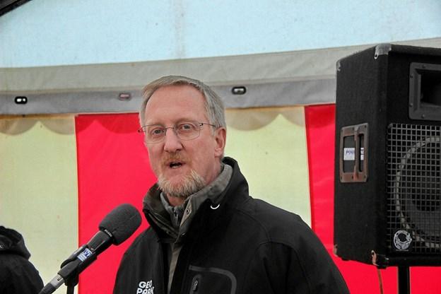 Thomas Holst Christensen fra Geopark Vestjylland var den sidste i talerækken. Foto: Hans B. Henriksen Hans B. Henriksen