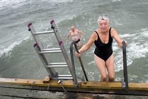 Vinterbadning som turistmål