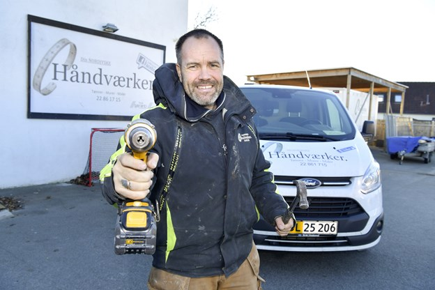 Tømrermester Michael Wilster er flyttet i nye lokaler, Søndergade 127 i Frederikshavn. Foto: Bente Poder