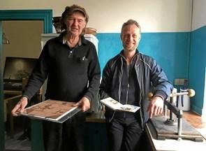 Mobilt trykkeri indtog Brygger Bies køkken