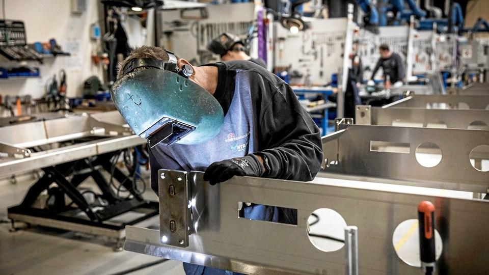 Brønderslev-virksomheden Intech, som leverer skræddersyede produktionsløsninger til fødevareindustrien, løb med prisen som årets Succesvirksomhed i Region Nordjylland. Foto: Intech