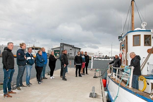 Efter lang tids slid og slæb var det endelig blevet tid til at vise skibet frem for sponsorerne og andre venner.