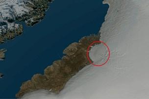 Meteorkrater på størrelse med Bornholm fundet i Grønland