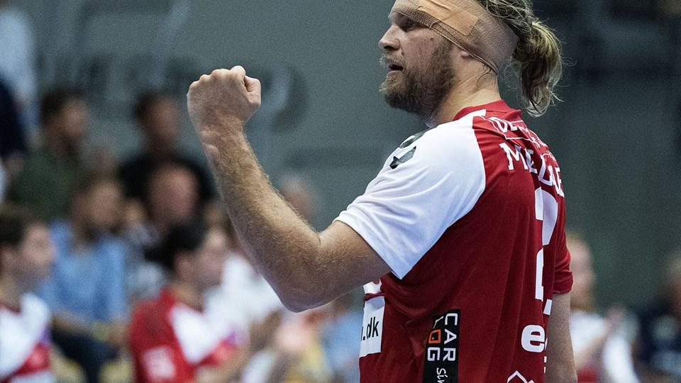 Henrik Møllgaard og Aalborg Håndbold tog den ventede sejr i sæsonpremieren. Billedet her er fra Super Cup-kampen mod GOG tidligere på ugen.