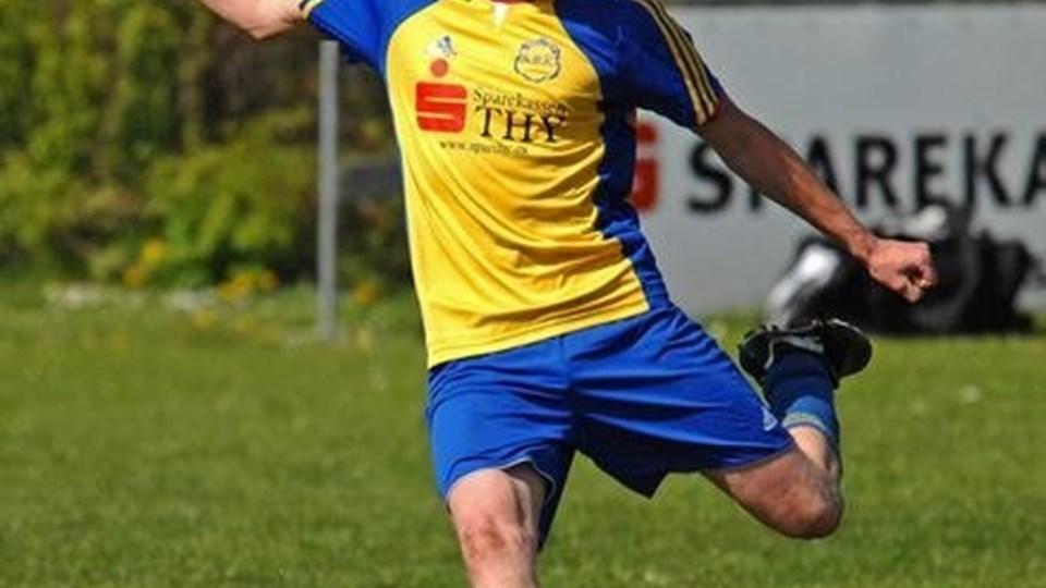 Nors Boldklubs Anders Bislev er blandt spillerne på det udvalgte Thy-hold, der møder Thisteds 2. divisionshold. Arkivfoto: Ole Iversen