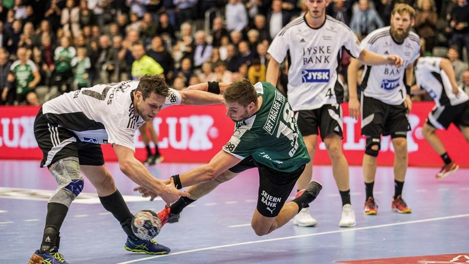 Bjerringbro-Silkeborg er tæt på at sikre sig tredjepladsen efter mandagens sejr over Mors-Thy. Foto: Scanpix/Niels Husted/arkiv