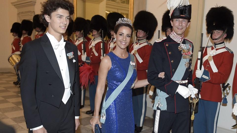 Prins Nikolai - her med sine forældre prinsesse Marie og prins Joachim - er droppet ud af sin uddannelse som reserveofficer. Arkivfoto: Henning Bagger/Ritzau Scanpix