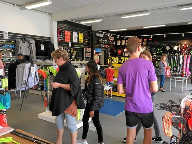Der kom mange kunder til åbningsstarten.