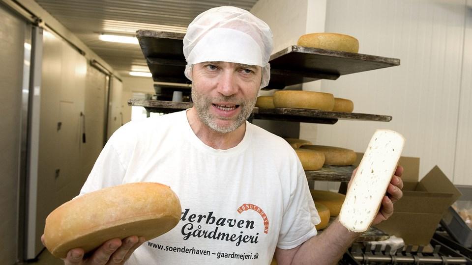Preben Ørum har fået fire top-3-placeringer for sine oste på et år. Foto: Henrik Louis