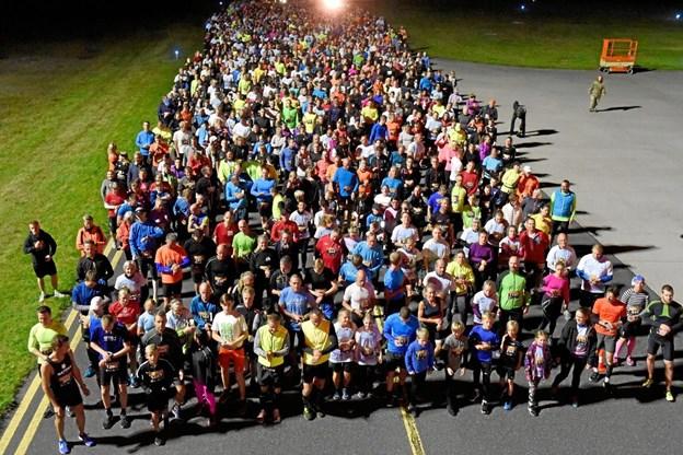 Der er plads til 2.000 løbere. Foto: privat