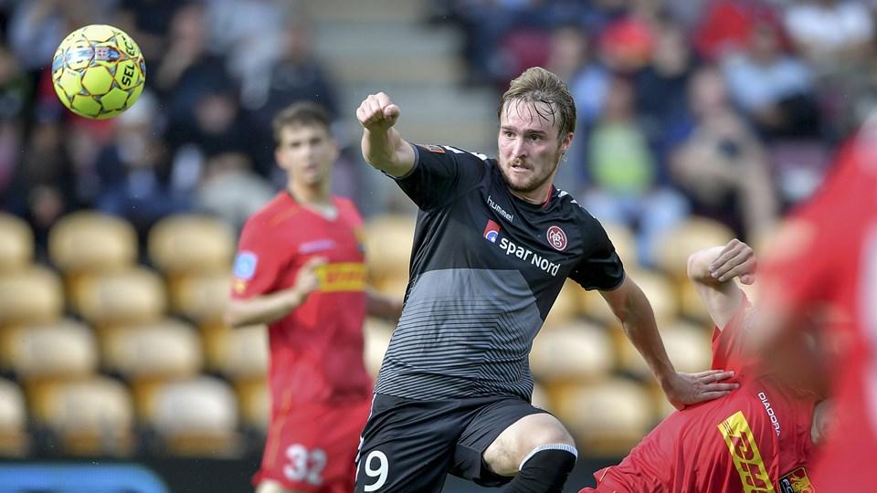 AaB skriger på en målfarlig angriber. Jannik Pohl brændte et par store chancer mod FC Nordsjælland. Foto: Nicolas Cho Meier