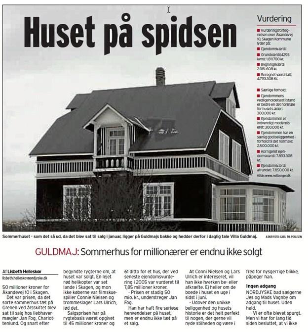 NORDJYSKE skrev også om huset for 12 år siden, da det kom på markedet til en udbudspris på 50 millioner kroner