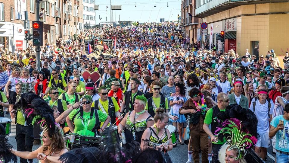 Der vil være betjente både i og omkring karnevalsoptoget, men det er en hemmelighed, hvor mange betjente, der er på gaden den dag. Foto: Laura Guldhammer