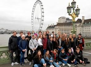 Hobro elever fra Søndre på en fin tur til London