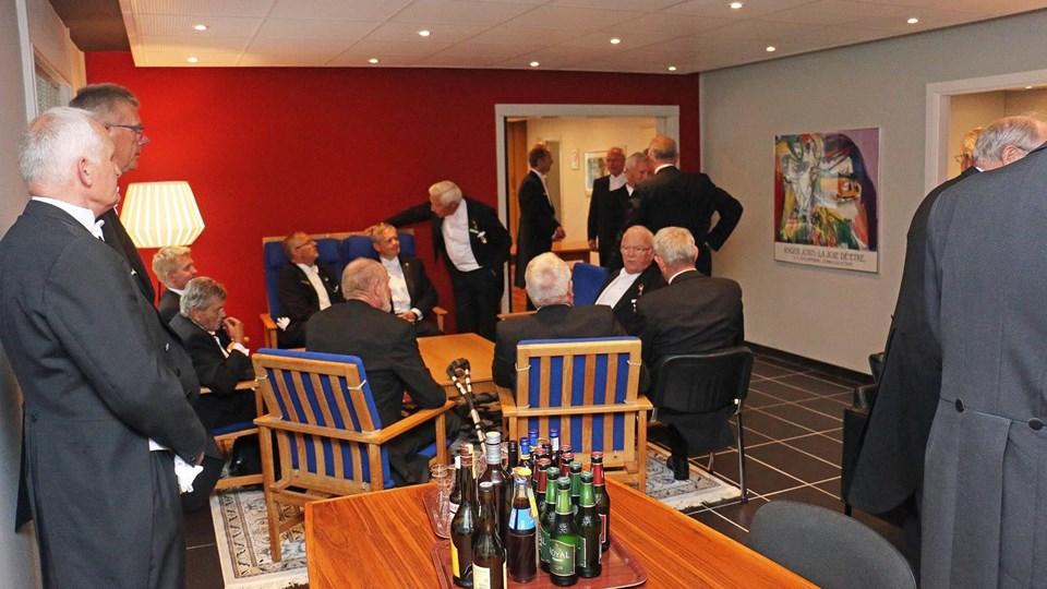 Der er stil over det når medlemmerne af Portus mødes. Billede fra åbningslogen 31. august 2015. Foto: Henning Petersen