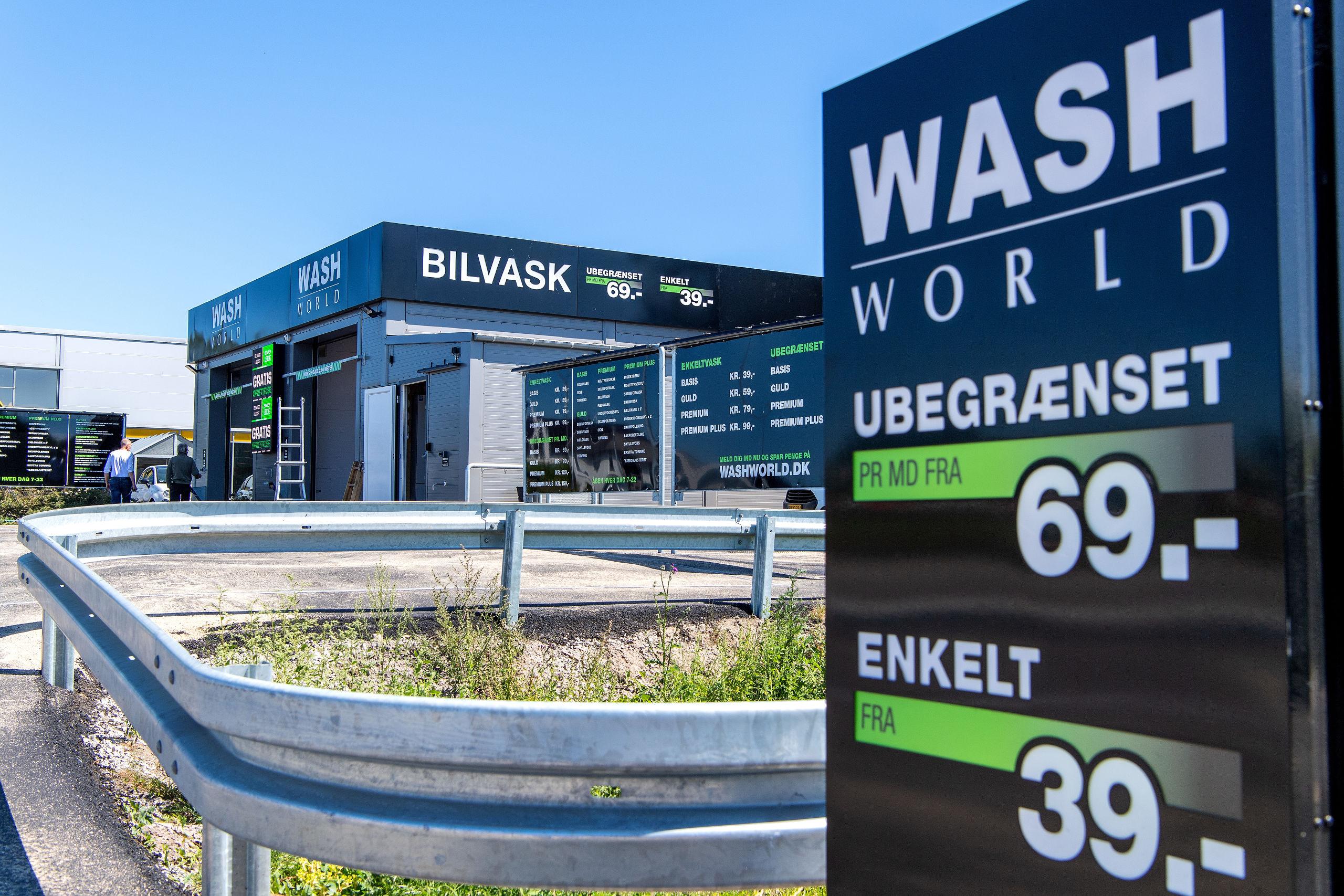 Wash World er klar med sin første bilvaskehal i Aalborg, og der er officiel sæsonpremiere i weekenden.