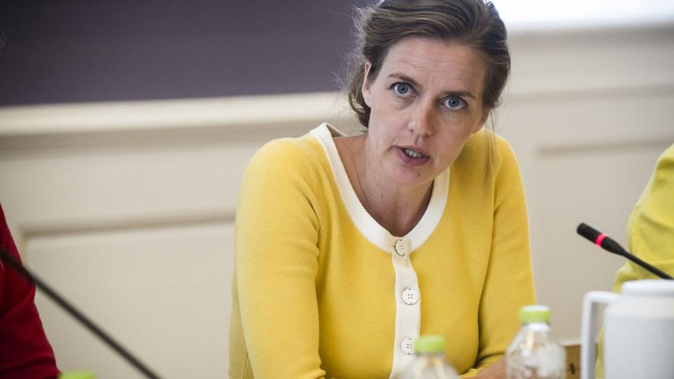 Sundhedsminister Ellen Trane Nørby (V) langer ud efter Region Hovedstadens evne til at få patienter med kræft i bugspytkirtlen hurtigt nok i behandling, efter mistanken om sygdommen opstår. Foto: Ida Marie Odgaard/arkiv/Ritzau Scanpix