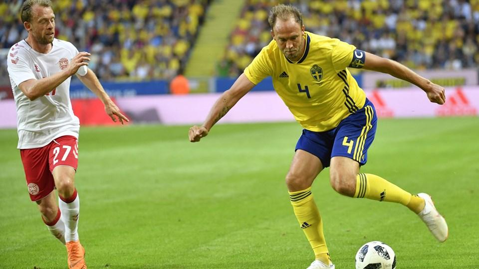 Midtbanespilleren Michael Krohn-Dehli fik chancen fra start for Danmark i Christian Eriksens fravær. Hverken han eller holdkammeraterne kunne score. 10300 Maja Suslin/tt/Ritzau Scanpix