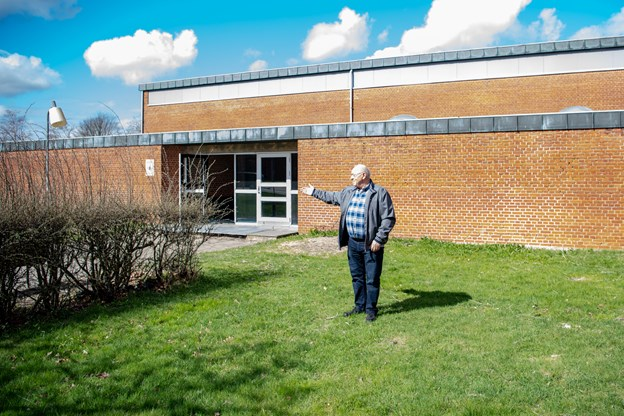 Bjarne Walentin glæder sig til at det nye Fælleshus rejser sig. Foto: Kim Dahl Hansen