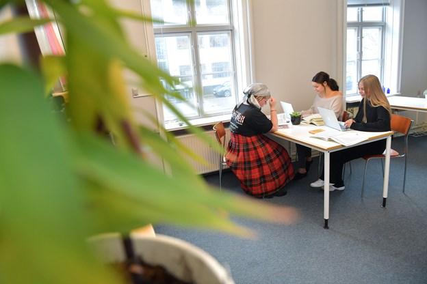 Studerende og iværksættere har mulighed for at sparre med hinanden her i StudieBoxen.