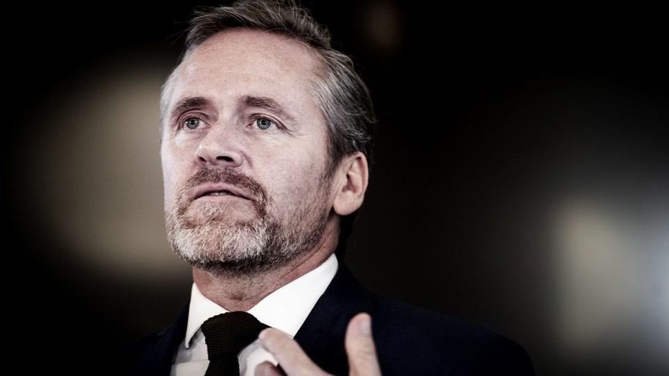 Danmark trækker en streg i sandet, siger udenrigsminister Anders Samuelsen (LA). (Arkivfoto).