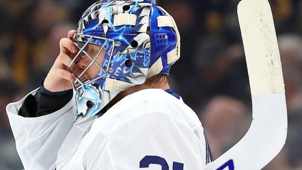 Frederik Andersen har meldt afbud til VM i ishockey. Den danske NHL-keeper skal hvile sin ene lyske og kommer ikke med i Slovakiet.