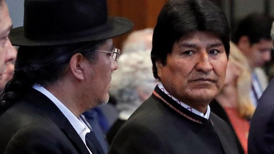 Bolivias præsident, Evo Morales, var mandag i Haag ved Den Internationale Domstol, da der blev truffet afgørelse om, hvorvidt hans land har krav på at forhandle med Chile om en korridor til Stillehavet. Foto: Yves Herman/Reuters