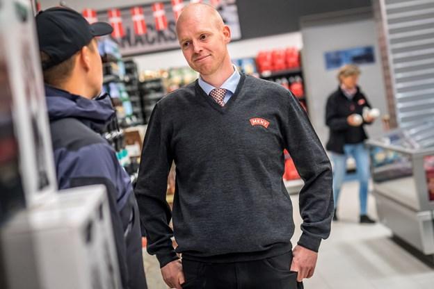Købmand Christian Bast Nielsen er lettet efter fire års planlægning. Foto: Martin Damgård