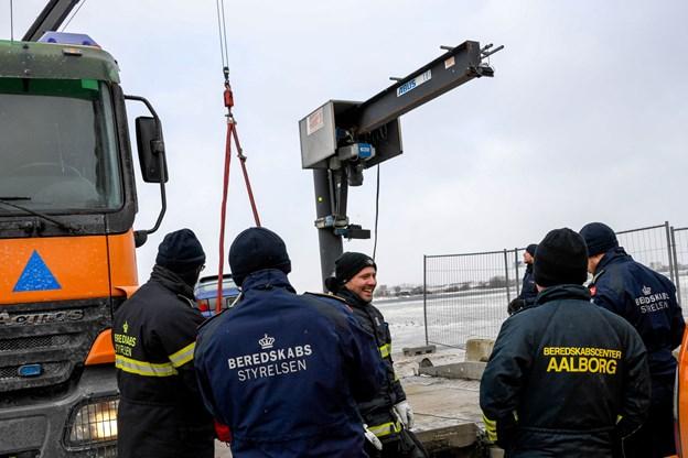 Beredskabsstyrelsen og Nordjyllands Beredskab deltog i øvelsen. Foto: Nicolas Cho Meier
