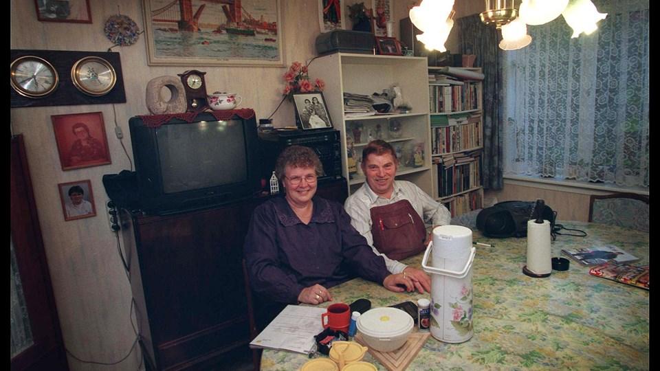 Millionkonti var meget omtalt i 1990'erne. Her eksempelvis Marius og Borghild Christensen, der vandt i 1998. Foto: Scanpix/Ernst Van Norde/arkiv