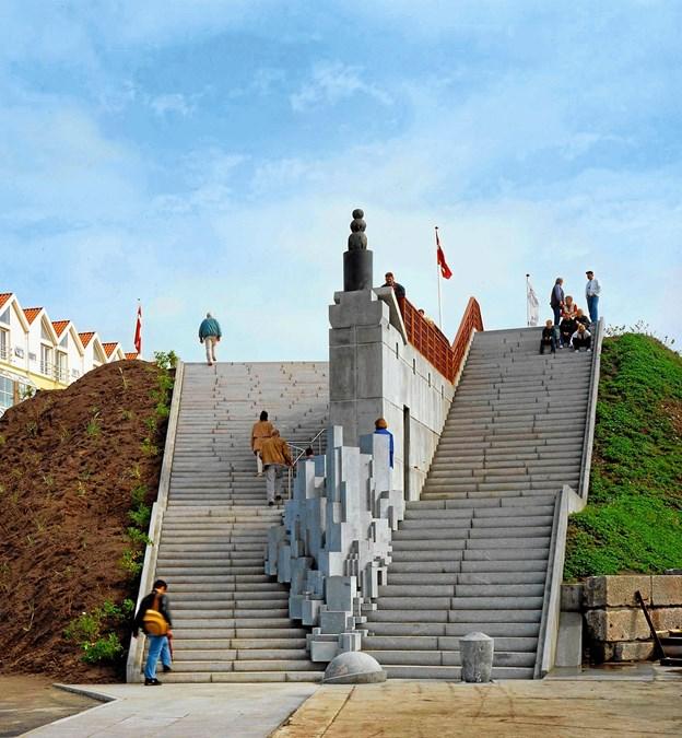 Trappen tænkes udvidet med blandt andet tre cirkelpladser.  Arkivfoto