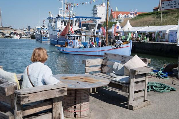 De fine rammer ved havnen blev nydt i det fine vejr. Foto: Hans Ravn