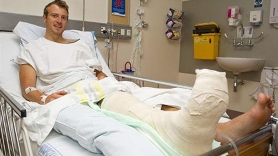 BJØRN Søvsø Jensen er indlagt på hospitalet i Auckland, New Zealand, efter at han er blevet bidt af en haj.Foto: David Rowland/Scanpix