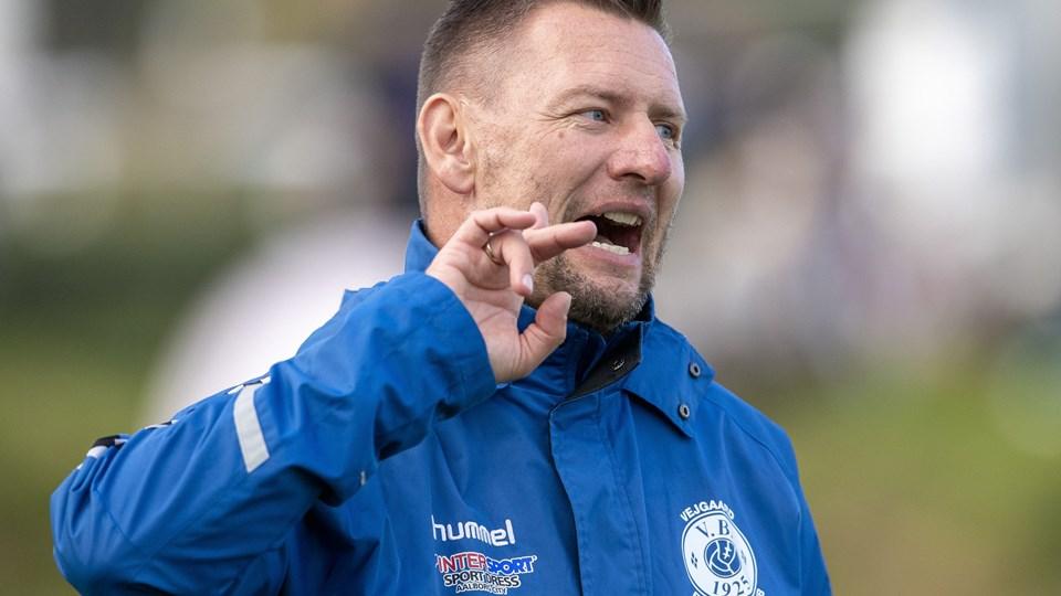 Vejgaard-træner Christian Flindt Bjerg var frustreret efter nederlaget til Middelfart. Arkivfoto: Henrik Bo