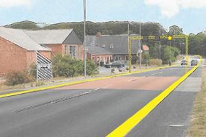 Sikker trafik i Thy: Bomme skal være andre farver end gul