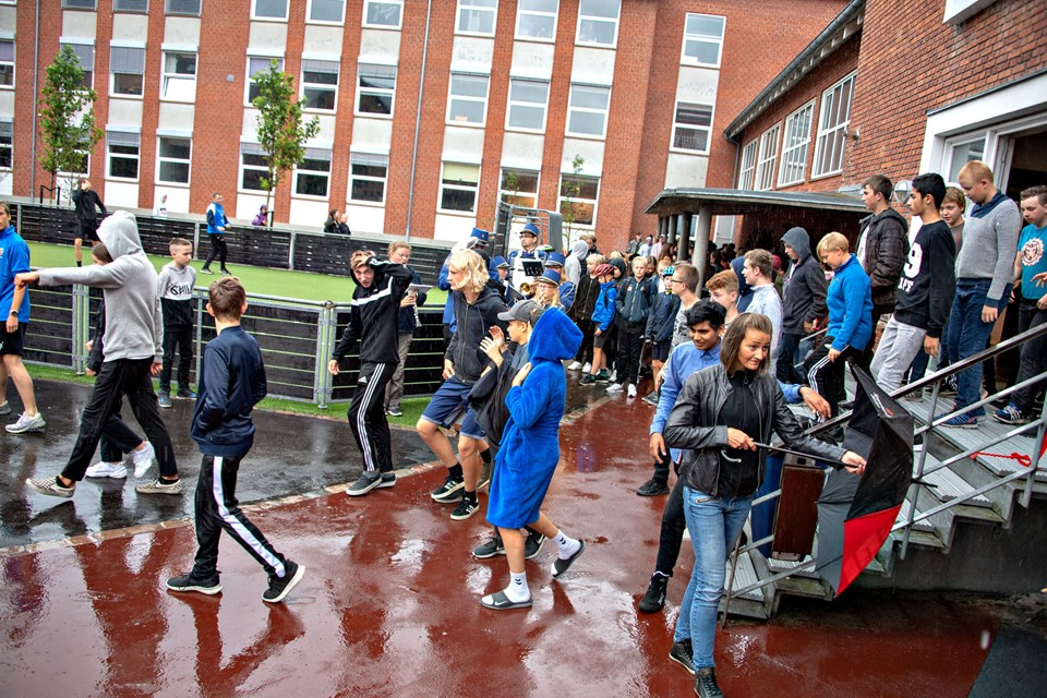 Indvielse af skolegård på Søndre Skole, Hobro  Foto: Kurt Bering