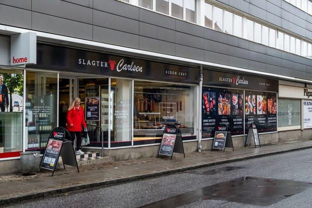 Den ny facade lader vidst ingen i tvivl om, at en ny slagter er klar i Nørresundby.