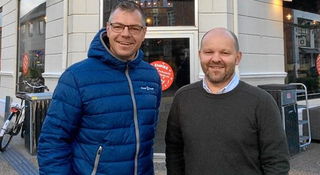 Rico Eiersted og Lars Dannervig er klar til at skyde løbet i gang 4. december