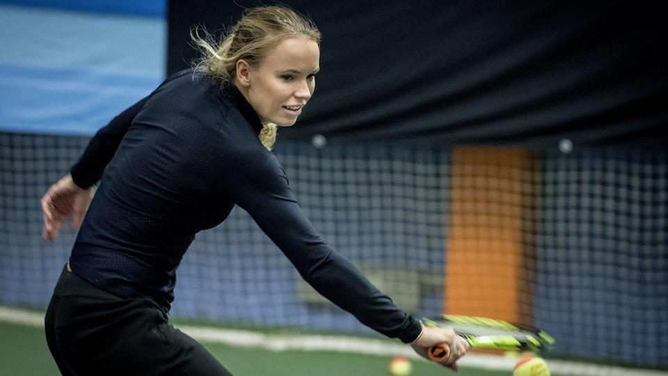 Caroline Wozniacki åbnede tirsdag 2018 med en sejr i New Zealand. Foto: /ritzau/Johansen Linda