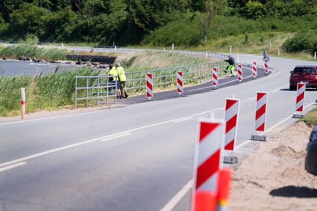 Den første etape af cykelstien mellem Mariager og Fladbjerg er ved at være klar. Resten af vejen til Assens ventes at stå færdig til efteråret. Foto: Torben Hansen