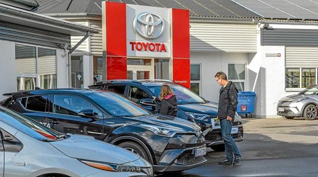 Den lokale Toyota i Løgstør, som er en del af sammenslutningen, havde fint ryk ind til åbningsfesten. Foto: Mogens Lynge