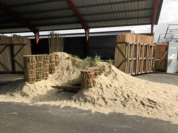 En lille udstillingsmodel af det den nye kystsikringsmetode. Foto: Groundplug
