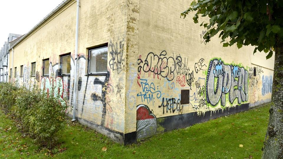Det var tags som DPER og USE og USES, som den 20-årige skrev rundt omkring i Hjørring. Arkivfoto: Bente Poder
