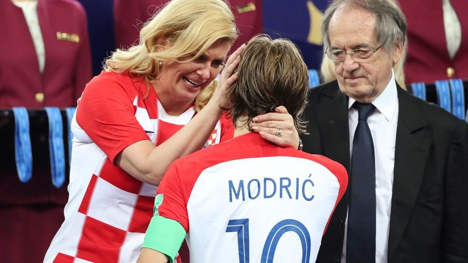 Luka Modric blev efter VM-finalen kåret til slutrundens bedste spiller. Foto: Carl Recine/Reuters