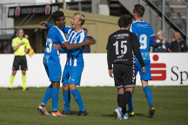 Thisted FC mødte søndag formiddag Vejgaard  Foto: Peter Mørk