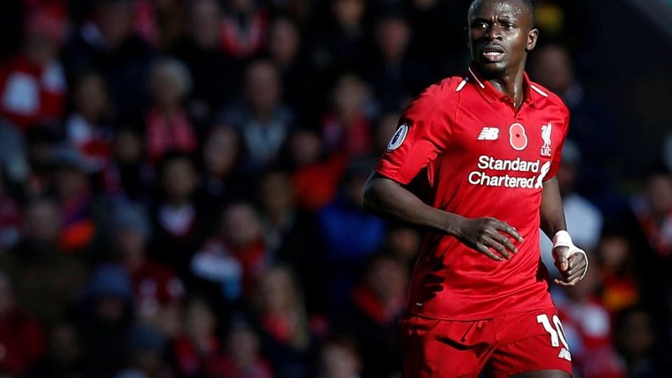 Sadio Mane forlængede torsdag sin kontrakt med Liverpool FC. (Arkiv)