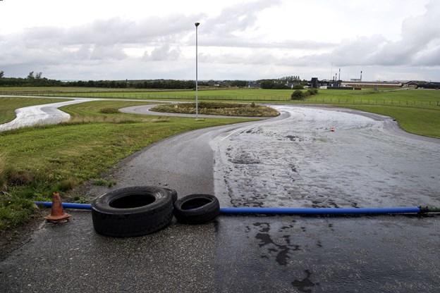 Undervisningen finder sted på det køretekniske anlæg i Løgstør.  Foto: Laura Guldhammer