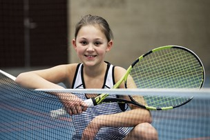 11-årige Josephine suveræn til tennis: - Jeg er ikke den næste Wozniacki - men bare mig selv