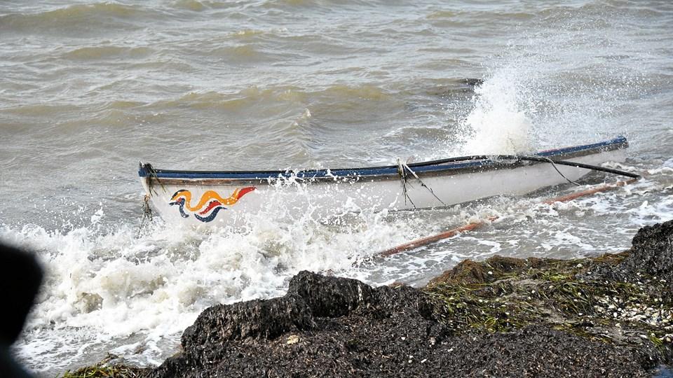 Onsdag eftermiddag vakte en tom båd i Dragstrup Vig bekymring. Det viste sig dog at være falsk alarm.Foto: Bo Lehm