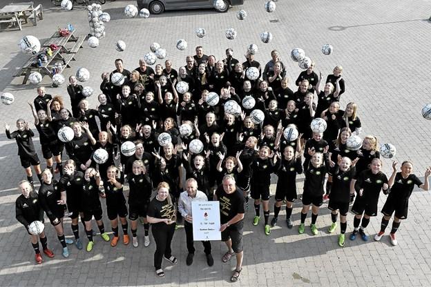 Alle FC Thy Pigers spillere var til træning i Østerild.Foto: Ole Iversen